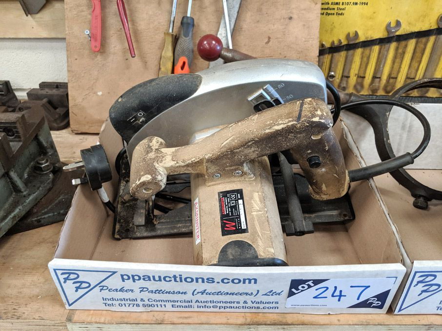 Axminster AW184CS electric circular saw, 240v
