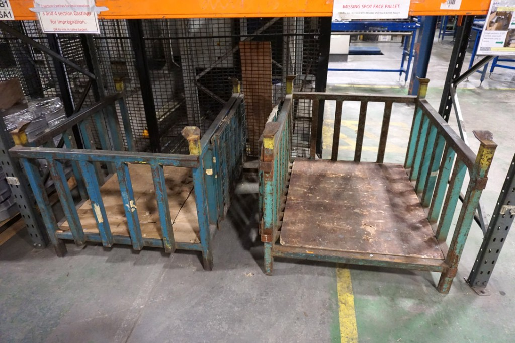10x stackable heavy duty stillages, 1250x1050x900m...