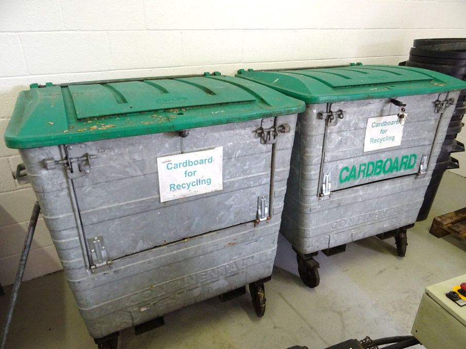 2x Continental recycling mobile dustbins & Qty bla...