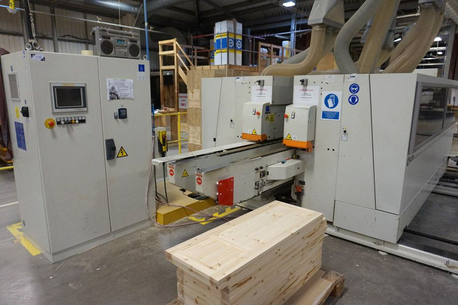 SCM Concept NT CNC double ended tenoner, B&R power...