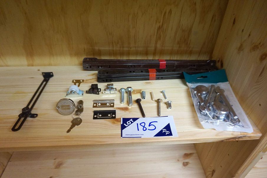 Large Qty furniture consumables inc: screws, bolts...