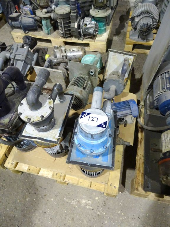 Qty various electrical pumps, motors etc - Lot loc...