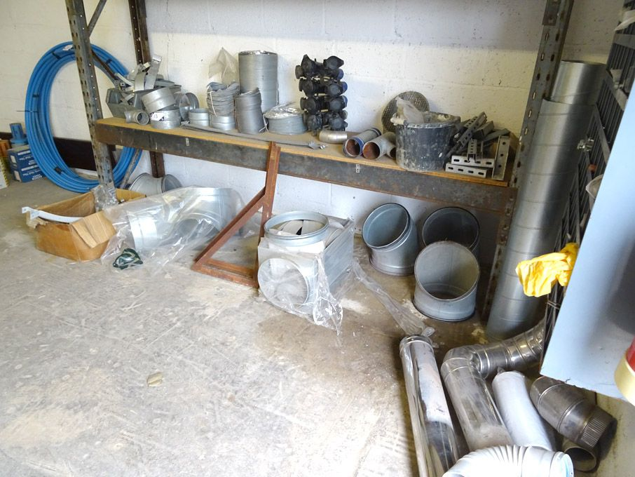 Qty various ducting, ducting hangers etc (racking...