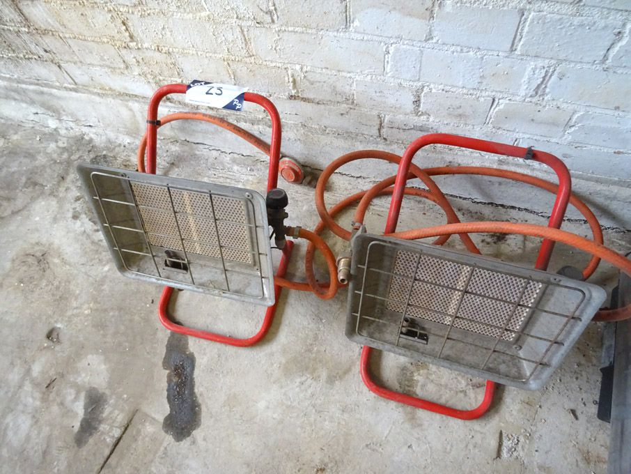 2x similar gas factory heaters - Lot located at: D...