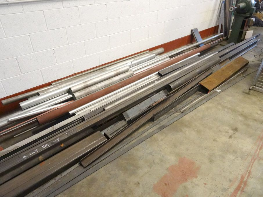 Qty stainless steel, steel bar stock inc: tubular,...