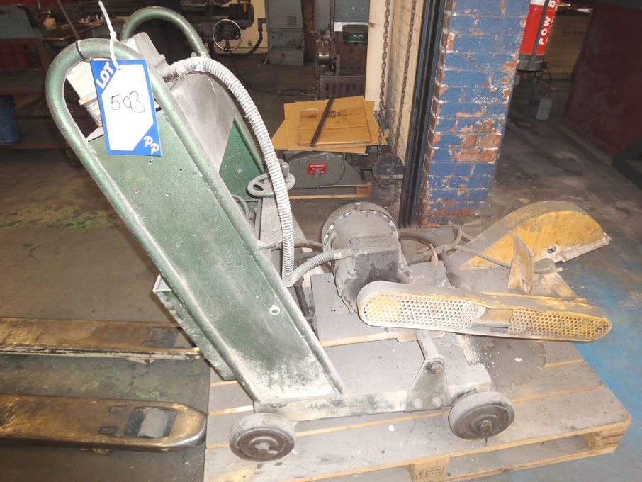 Clipper mobile electric concrete saw, 350mm dia bl...
