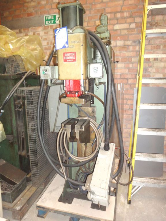 British Federal 294kva projection welder, 1050rms...