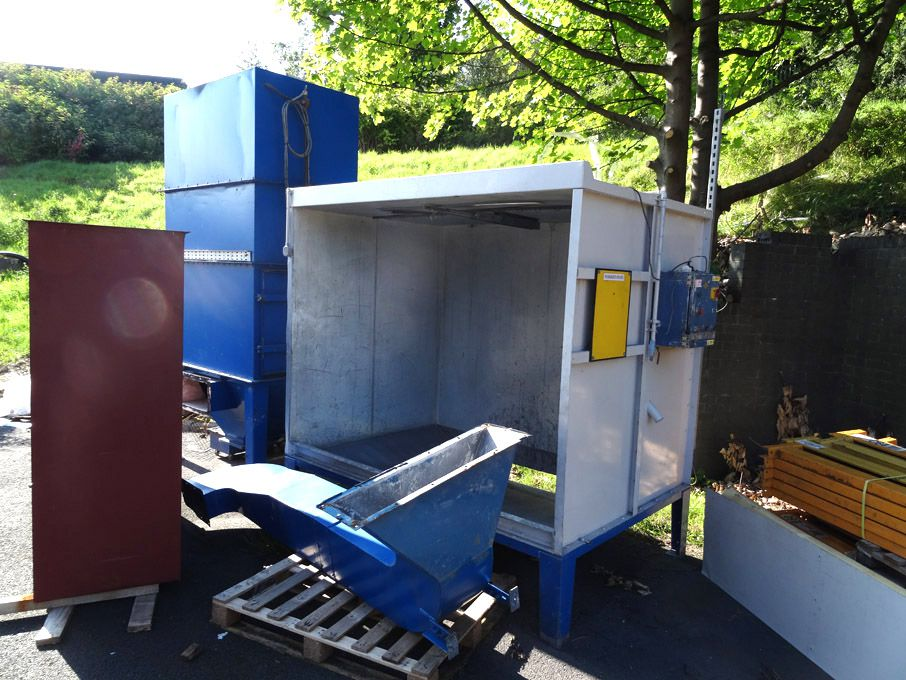 Off-line paint booth with cyclone extraction unit,...
