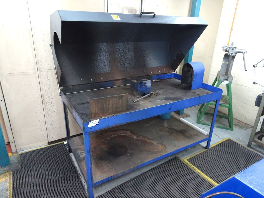 "72x36"" metal frame cleaning station with hood & be..."