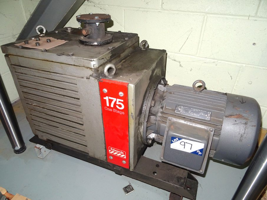 Edwards 175 one stage vacuum pump  - Lot located a...
